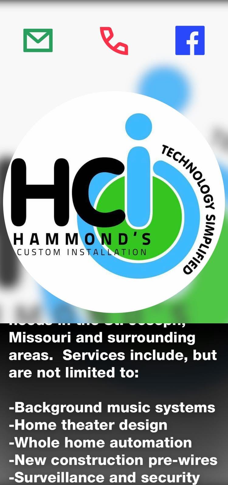 Hammonds Custom Installation New Construction Wiring Home Theater