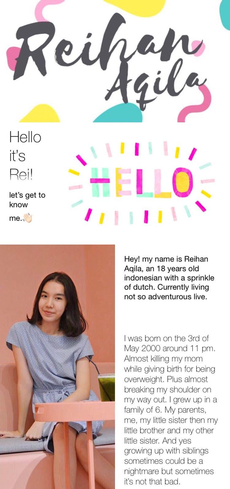 Hello! it's Rei! - rei