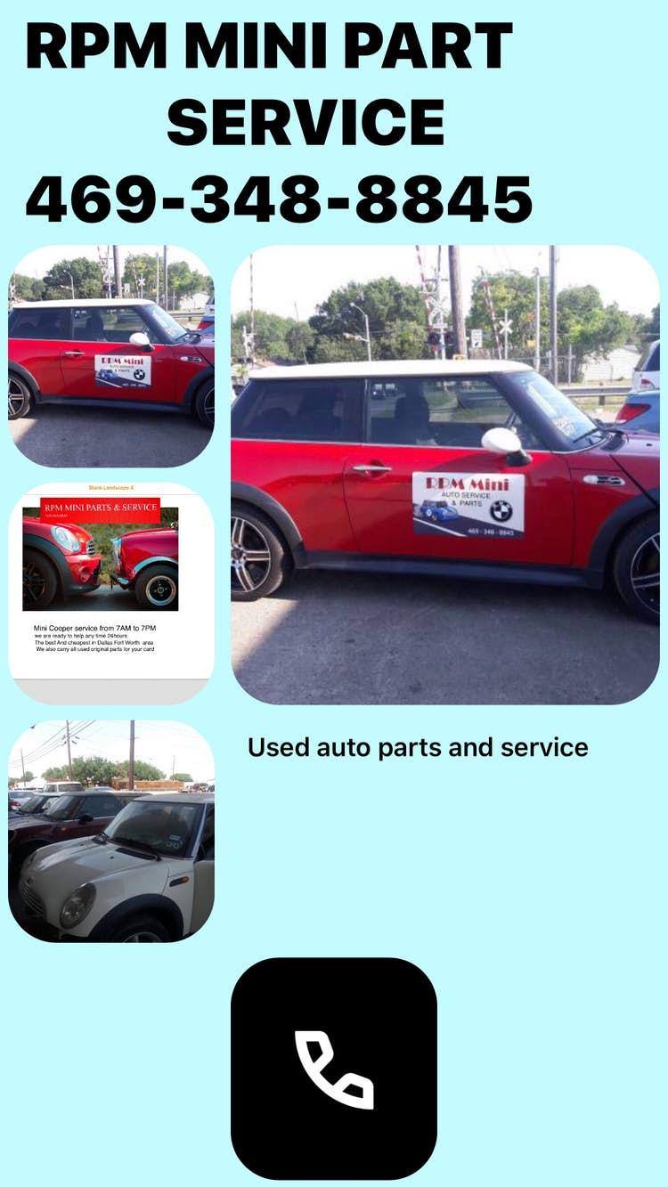 RPM MINI PART SERVICE 469-348-8845